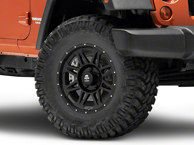 Mammoth Split 8 Beadlock Matte Black Wheel; 17x8 (07-18 Jeep Wrangler JK)