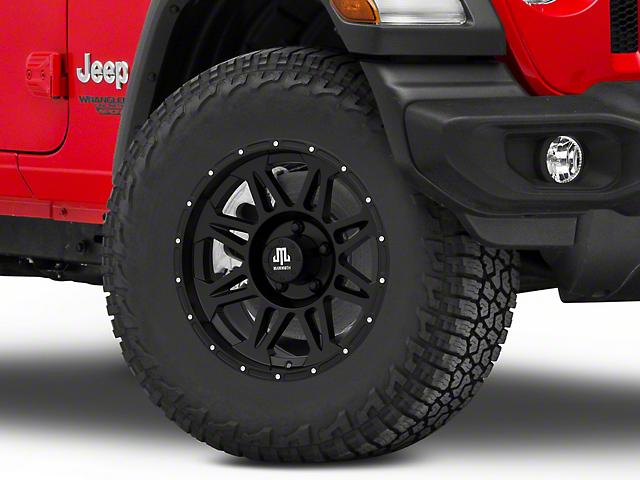 Mammoth Split 8 Beadlock Matte Black Wheel; 17x8 (18-21 Jeep Wrangler JL)