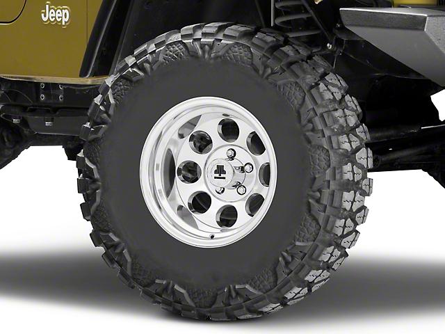 Mammoth 8 Aluminum Polished Wheel; 15x10 (97-06 Jeep Wrangler TJ)