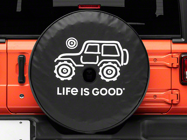Life is Good Native Off-Road Spare Tire Cover with Camera Opening; 32-Inch Tire Cover (18-21 Jeep Wrangler JL)