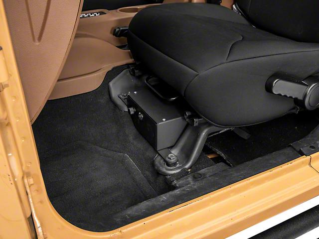 RedRock 4x4 Under Seat Storage Lock Box; Driver Side (07-10 Jeep Wrangler JK 2-Door; 07-18 Jeep Wrangler JK 4-Door)