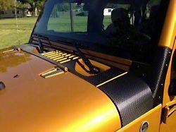 Cowl and Hood Vent Trim; Raw Carbon Fiber (07-18 Jeep Wrangler JK)