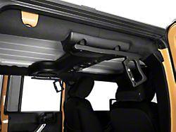 RedRock 4x4 Aluminum Rear Grab Handles; Black (07-18 Jeep Wrangler JK)