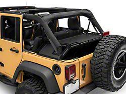 Body Armor 4x4 Interior Storage Rack; Textured Black (07-21 Jeep Wrangler JK & JL 4-Door)