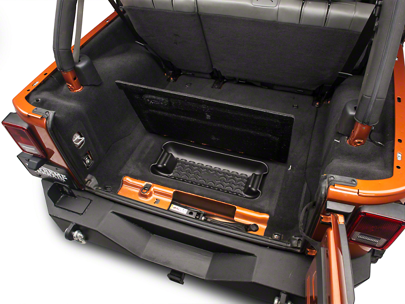 Rugged Ridge Jeep Wrangler Rear Cargo Area Storage Bin