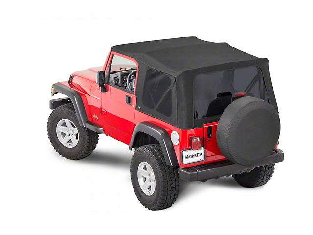 MasterTop Replacement Soft Top with Tinted Glass; MasterTwill (97-06 Jeep Wrangler TJ, Excluding Unlimited)
