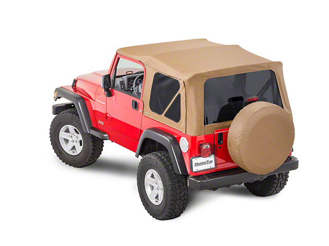 MasterTop Replacement Soft Top with Tinted Glass; Spice Diamond (97-06 Jeep Wrangler TJ, Excluding Unlimited)