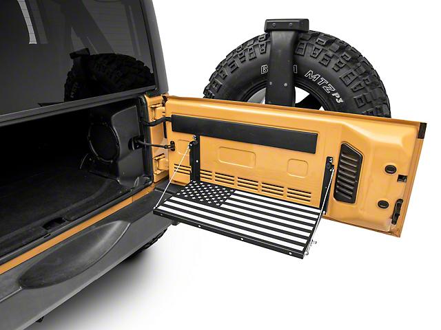 RedRock 4x4 Tailgate Storage Rack; Stars and Stripes (07-18 Jeep Wrangler JK)