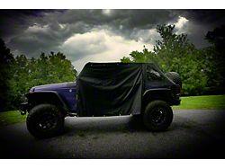 Four Door Rain Curtains; Black (07-21 Jeep Wrangler JK & JL 4-Door)