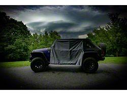 Four Door Rain Curtains; Gray (07-21 Jeep Wrangler JK & JL 4-Door)