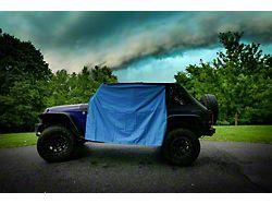 Four Door Rain Curtains; LT Blue (07-21 Jeep Wrangler JK & JL 4-Door)