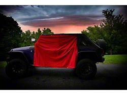Four Door Rain Curtains; Red (07-21 Jeep Wrangler JK & JL 4-Door)
