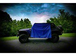 Four Door Rain Curtains; Royal Blue (07-21 Jeep Wrangler JK & JL 4-Door)