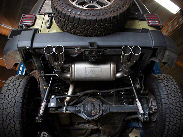 AFE Vulcan Series 3-Inch Axle-Back Exhaust with Polished Tips (07-18 Jeep Wrangler JK)