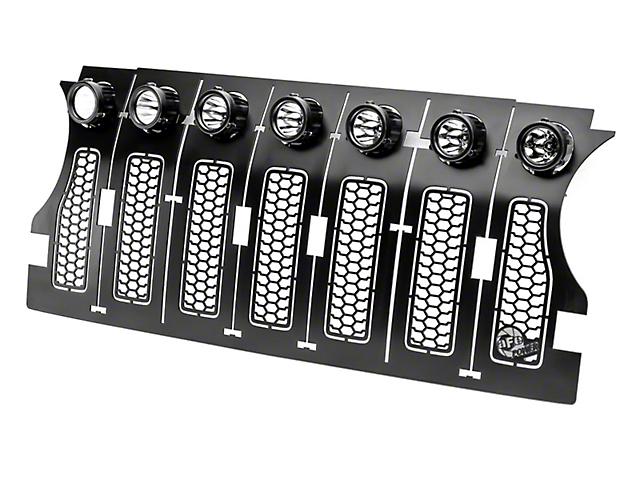 AFE Scorpion Tread Design Grille Insert with LED Lights; Black (18-21 Jeep Wrangler JL)