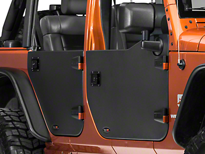 Rugged Ridge Rear Half Door - Pair (07-18 Wrangler JK)