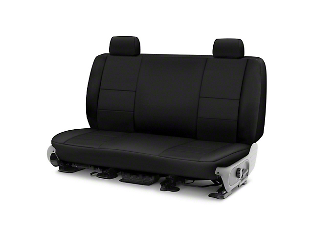Coverking Cordura Ballistic Custom-Fit Rear Seat Cover; Black (14-21 Tundra CrewMax)