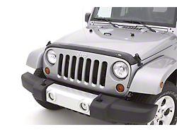 Aeroskin Hood Protector; Dark Smoke (07-18 Jeep Wrangler JK)