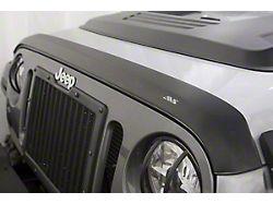 Aeroskin Hood Protector; Matte Black (07-18 Jeep Wrangler JK)