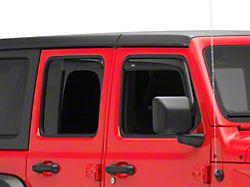In-Channel Ventvisor Window Deflectors; Front and Rear; Dark Smoke (18-21 Jeep Wrangler JL 4-Door)