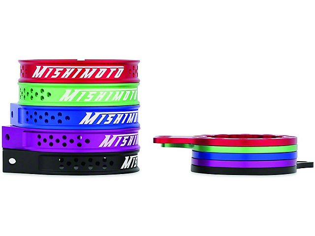 Mishimoto Replacement Bracket Set for Baffled Oil Catch Can; Purple (Universal Fitment)