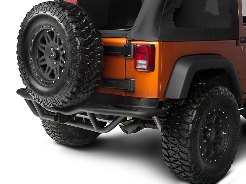 Rugged Ridge RRC Rear Bumper w/ Hitch - Textured Black (07-18 Jeep Wrangler JK)