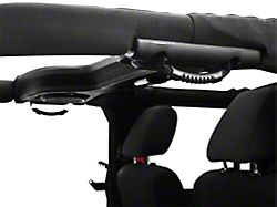Rugged Ridge Rear Grab Handles; Black (07-18 Jeep Wrangler JK 4 Door)