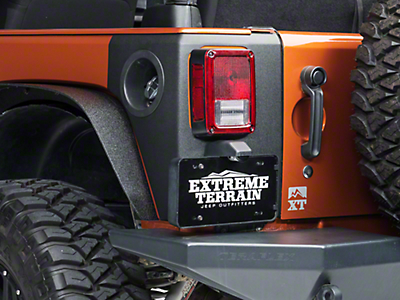 Bushwacker Rear Trail Armor Corners (07-18 Wrangler JK)