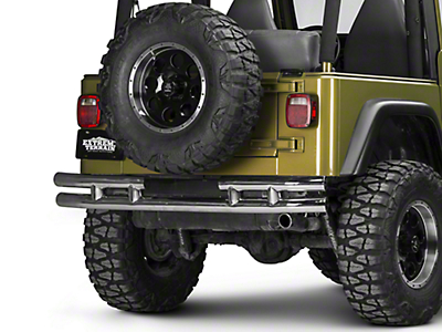 Rugged Ridge Tubular Rear Bumper w/o Hitch - Stainless Steel (87-06 Wrangler YJ & TJ)