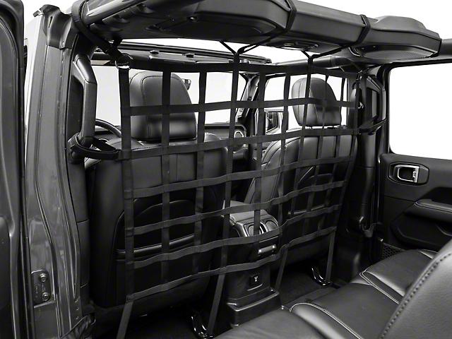 RedRock 4x4 Cargo Net/Pet Divider; Front Seat (07-21 Jeep Wrangler JK & JL)