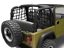 RedRock 4x4 Rear Cargo Net (97-06 Jeep Wrangler TJ, Excluding Unlimited)
