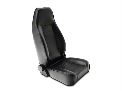 Rugged Ridge Reclining Front Seat - Black Vinyl (87-02 Wrangler YJ & TJ)
