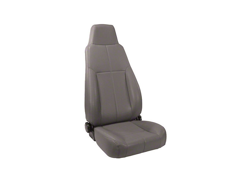 Rugged Ridge Reclining Front Seat w/ Headrest - Gray (87-02 Wrangler YJ & TJ)