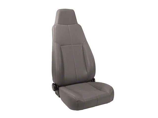Rugged Ridge Reclining Front Seat w/ Headrest - Gray (87-02 Jeep Wrangler YJ & TJ)