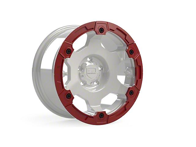 Teraflex Nomad Off-Road Wheel Split Rash Ring with Hardware; Red (07-21 Jeep Wrangler JK & JL)