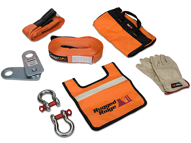 Rugged Ridge XHD Recovery Gear Kit; 20,000 lb.