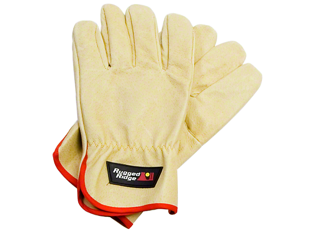Rugged Ridge Recovery Gloves; Leather