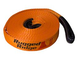 Rugged Ridge 4 Inch x 30-Foot Recovery Strap; 40,000 lb.