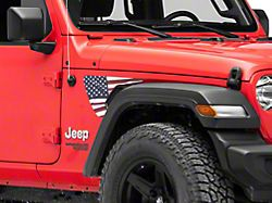 SEC10 Side Accent Flag Decal; Red, White and Blue (18-21 Jeep Wrangler JL)