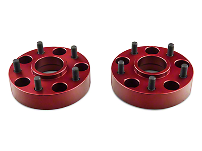 Alloy USA Red 1.5 in. Aluminum Wheel Spacers (07-17 Wrangler JK)