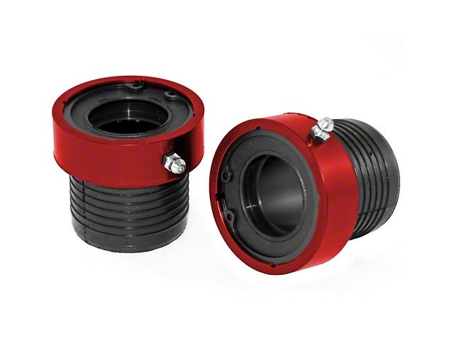 Alloy USA Front Axle Tube Seals - Red (03-06 Jeep Wrangler TJ Rubicon; 07-18 Jeep Wrangler JK)