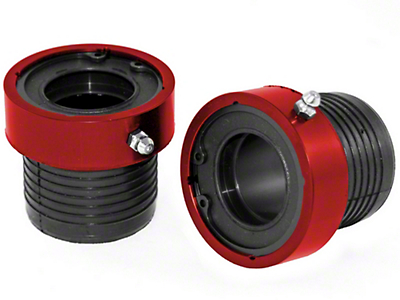 Alloy USA Red Grande Axle Tube Seals (87-18 Wrangler YJ, TJ & JK w/ 30-Spline Dana 30 or Dana 44 Front Axles)