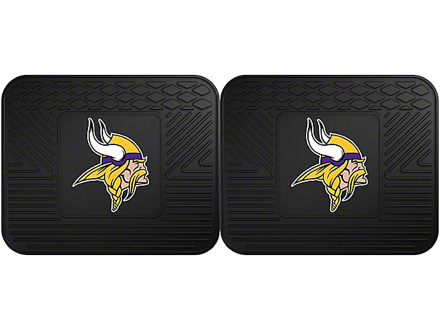 Molded Rear Floor Mats with Minnesota Vikings Logo (Universal Fitment)