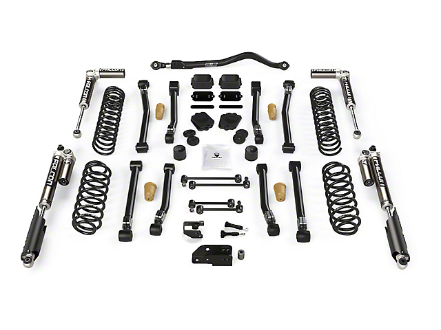 Teraflex 3.50-Inch Alpine CT3 Short Arm Suspension Lift Kit with Falcon SP2 3.1 Piggyback Shocks (18-21 2.0L or 3.6L Jeep Wrangler JL 4-Door)