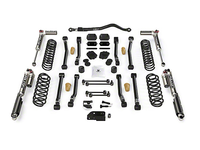 Teraflex 3.50-Inch Alpine CT3 Short Arm Suspension Lift Kit with Falcon SP2 3.3 Fast Adjust Shocks (18-21 2.0L or 3.6L Jeep Wrangler JL 4-Door)