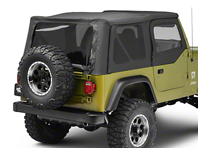 Bestop Replace-A-Top w/ Tinted Windows - Black Denim (97-02 Jeep Wrangler TJ w/ Half Doors)