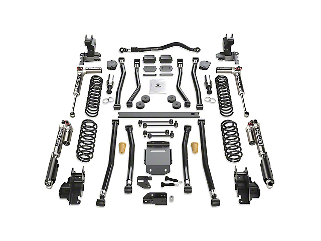 Teraflex 3.50-Inch Alpine RT3 Long Arm Suspension Lift Kit with Falcon SP2 3.3 Fast Adjust Shocks (18-21 2.0L or 3.6L Jeep Wrangler JL 4-Door)