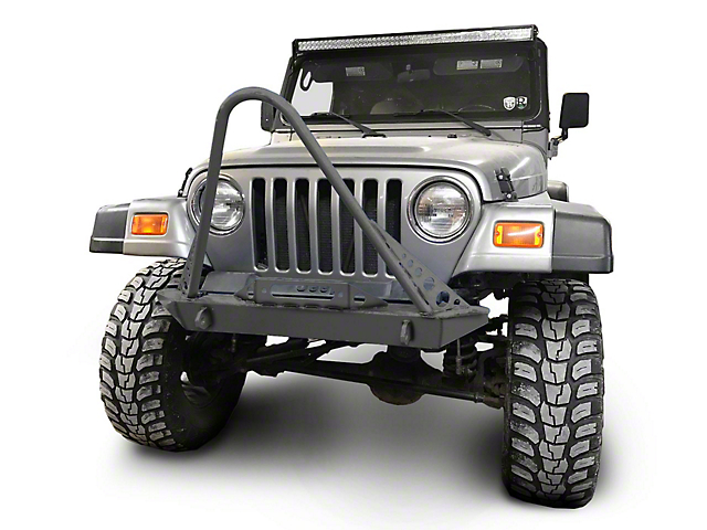 Steinjager Front Bumper with Stinger; Bare Metal (97-06 Jeep Wrangler TJ)