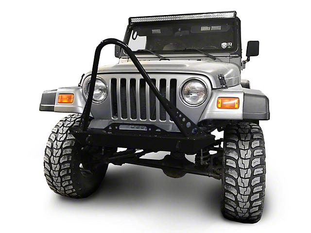 Steinjager Front Bumper with Stinger; Black (97-06 Jeep Wrangler TJ)