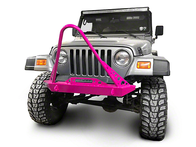 Steinjager Front Bumper with Stinger; Hot Pink (97-06 Jeep Wrangler TJ)